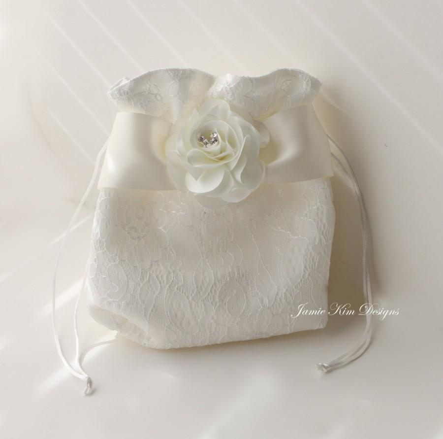 Laced Wedding Dollar Dance Bag Money Bride