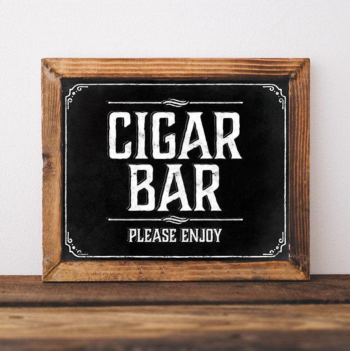 fe3f6f18ea5823 Chalkboard wedding cigar bar sign. Rustic wedding decorations. Rustic wedding  signs. Printable wedding signage. Instant digital download.