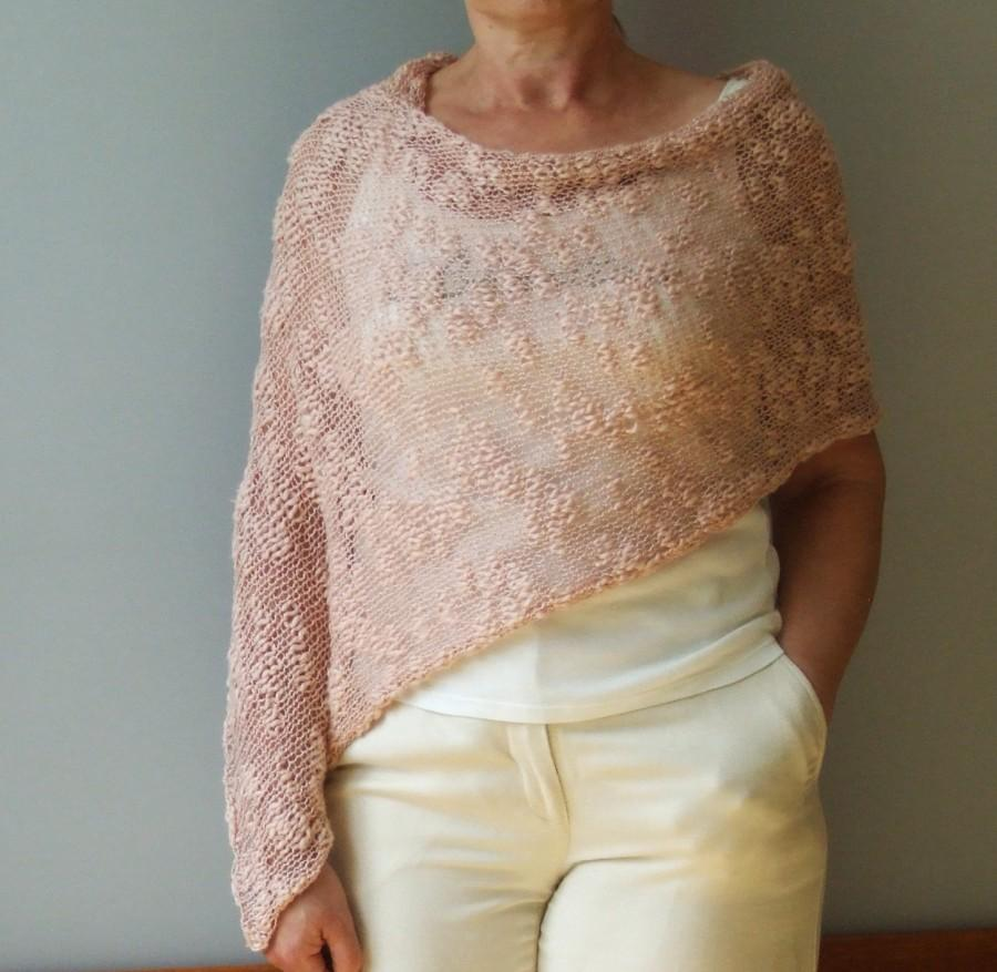 Свадьба - Summer poncho, Cotton poncho, Pink poncho, Summer knits, Boho cotton poncho, Loose  poncho, Knit summer wrap