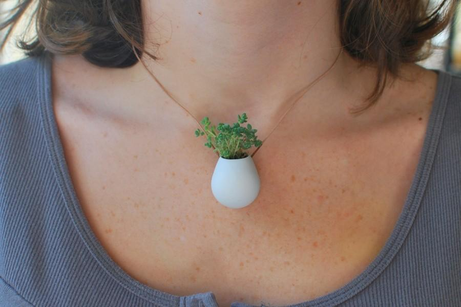Свадьба - A Wearable Planter, No. 1, in White