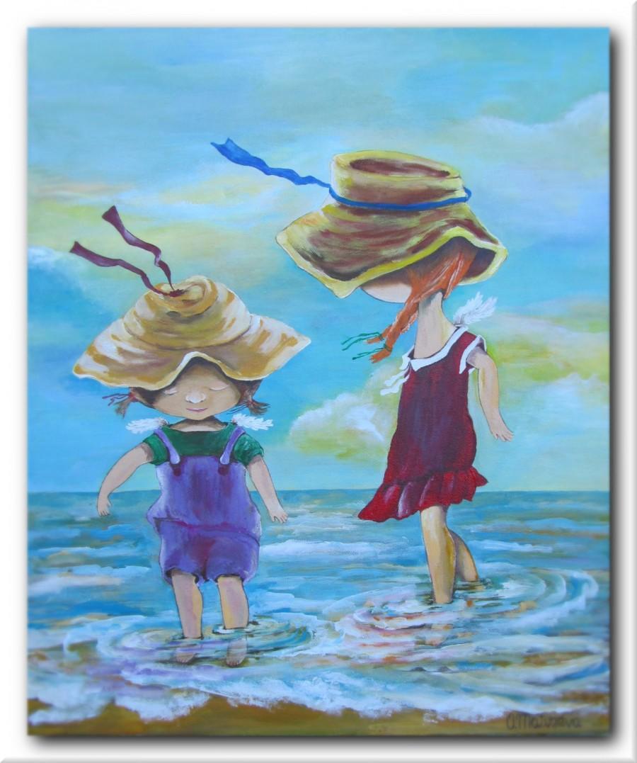 Sisters Original Acrylic Painting Handmade Gift For Sister Acrylic