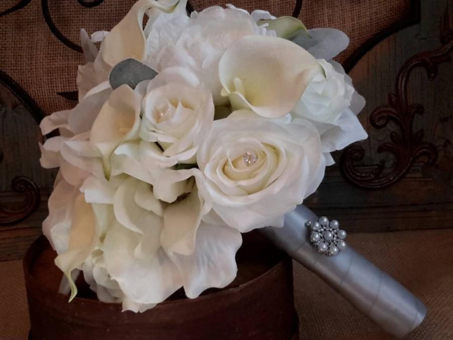 Mariage - White wedding bouquet