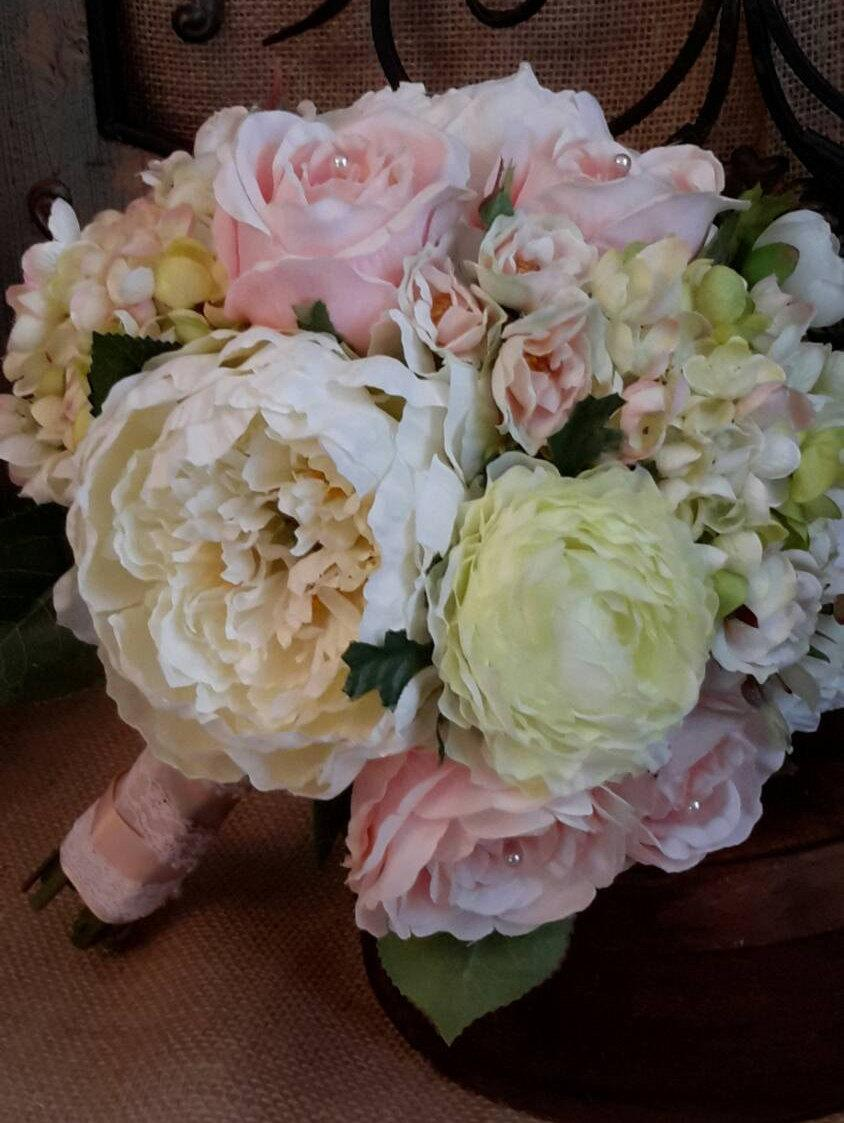 Mariage - Wedding bouquet,Peony Bouquet, Bride's Bouquet,Rose, Pink Bouquet, Blush Bouquet,