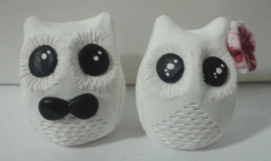 Mariage - Owl wedding cake topper