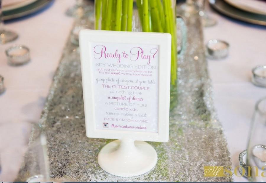 Mariage - iSpy Wedding Table Game Sign