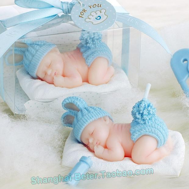 Beter Gifts Boy Baby Baptism Party Candle Favors Lz042