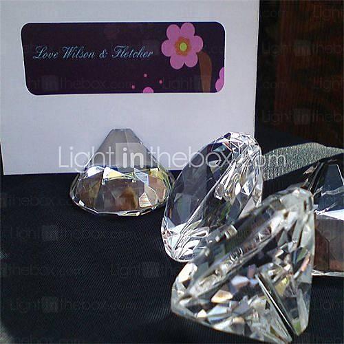 Свадьба - Beter Gifts® cartes d'endroit et porte en forme de losange détenteurs de cartes place groove 1mm largeur