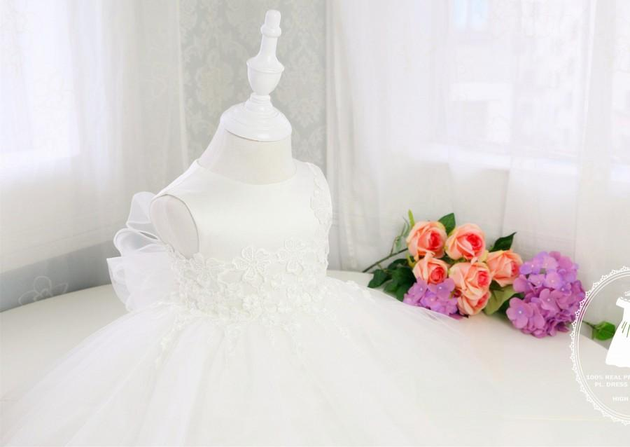 Toddler Dress For Wedding Flower Girl Tulle Baby Birthday Party PD055 2