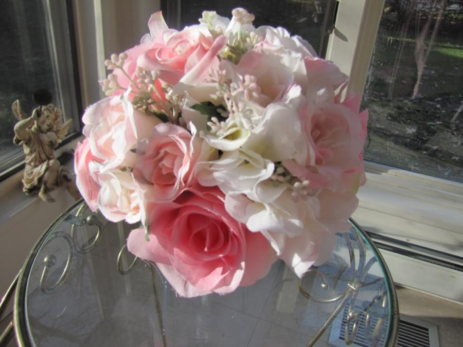 Beautiful Silk Flower Bridal Bouquet Flower Girl Bouquet ...