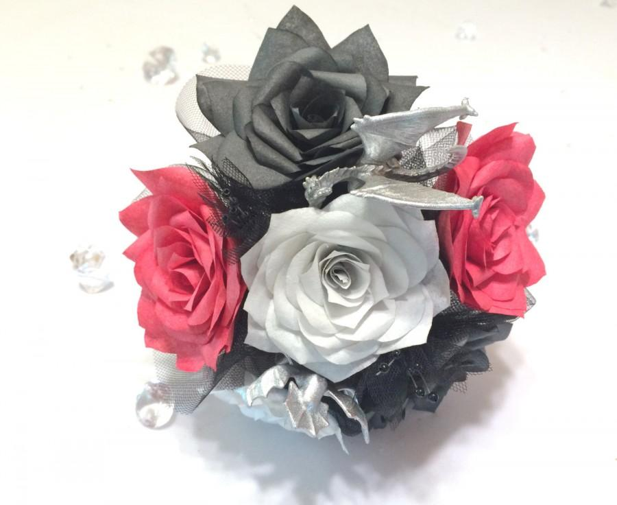 Dragon Bouquet Handmade Paper Rose Bouquet Fantasy Bouquets Game