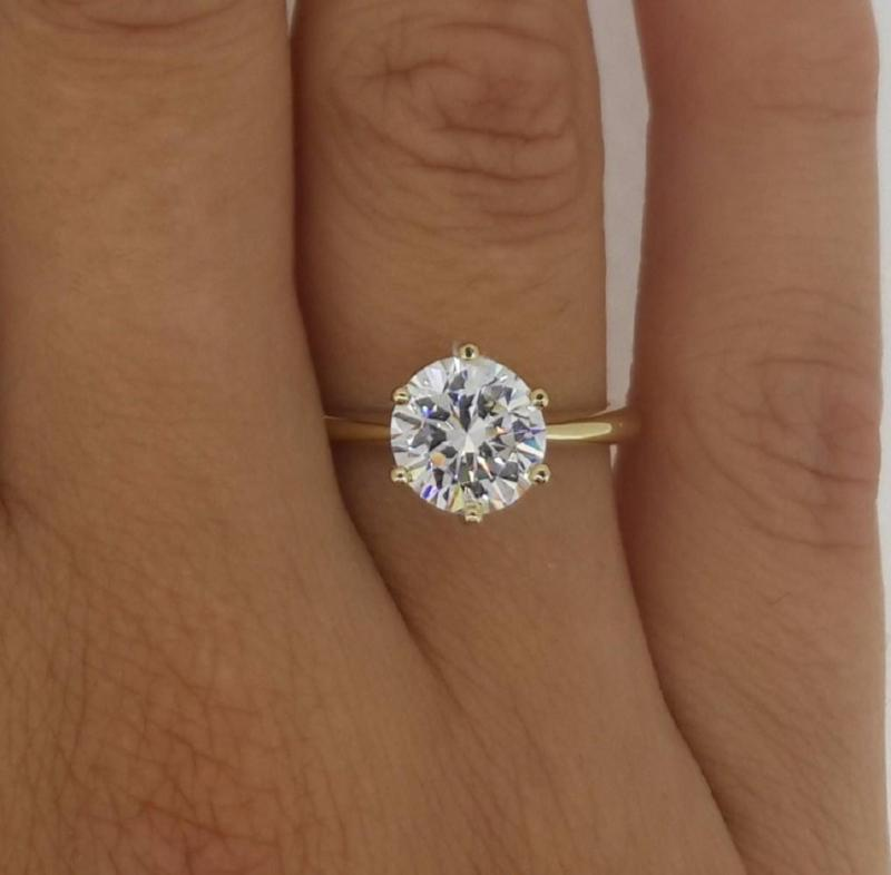 by jewels engagement product rings puregemsjewels prong ring six cut gems solstice white round pure gold