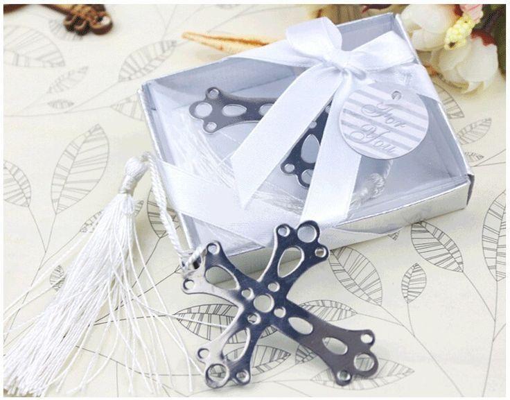 Mariage - 10PCS Cross Bookmark Wedding Decoration