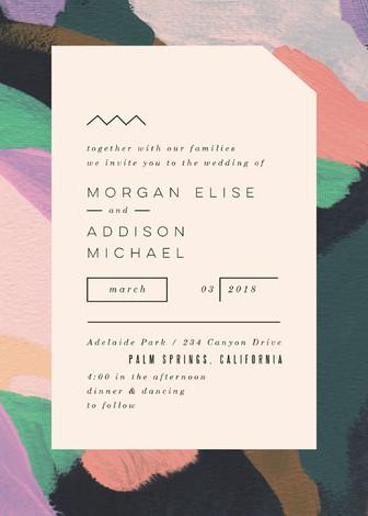 Mariage - Adagio - Customizable Wedding Invitations by Moglea.