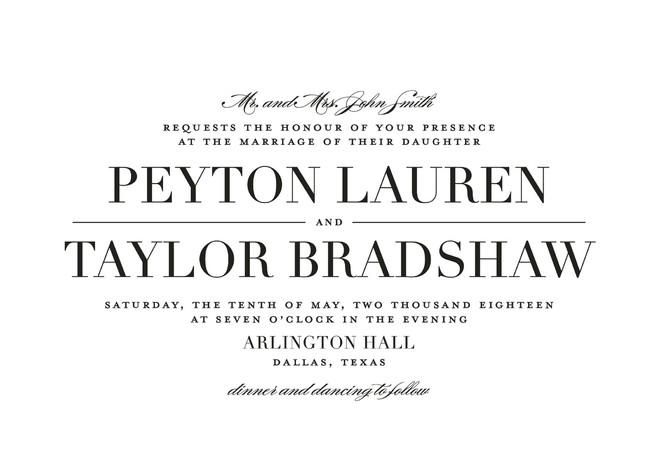 Mariage - Classic - Customizable Wedding Invitations in Black by Lauren Chism.
