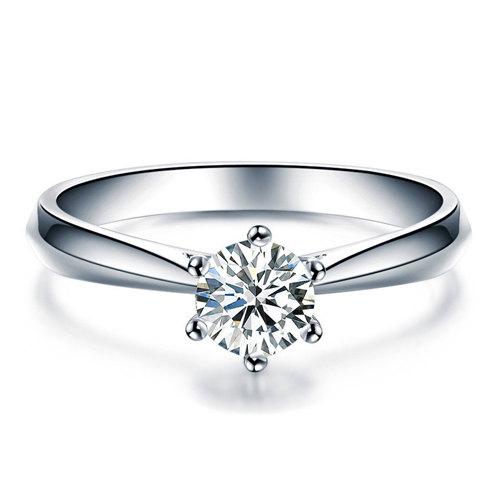 زفاف - Round Cut Forever Brilliant Moissanite Engagement Ring and Diamonds 14k White Gold or 14k Yellow Gold Diamond Ring