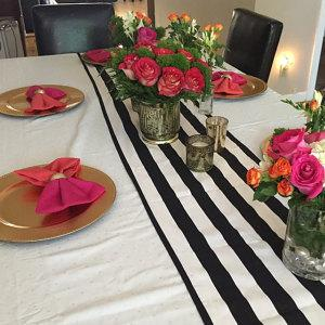 10 Off With Coupon Code Summer16 Black And White Stripe Table