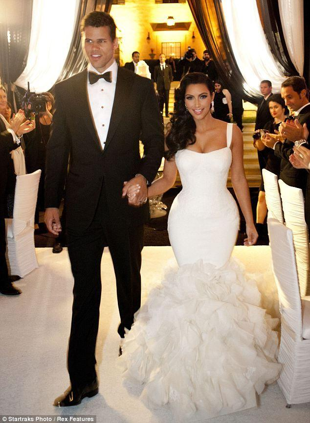 Costume Change Newlywed Kim Kardashian Dons Dress Number Two As She