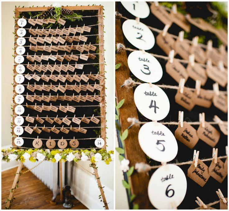 Hochzeit - Rustic Wedding Escort Card Display