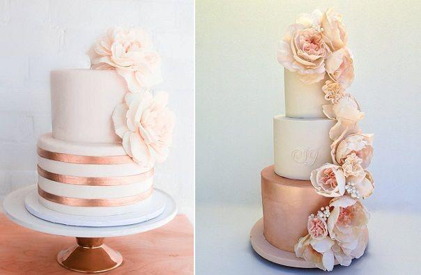Wedding - Rose Gold Wedding Cakes, Bronze & Copper