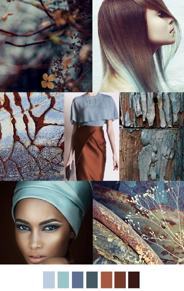 Mariage - TRENDS // PATTERN CURATOR . PRINT, PATTERN   COLOR - AUTUMN BLUES/CINNAMON CHAI (FASHION VIGNETTE)