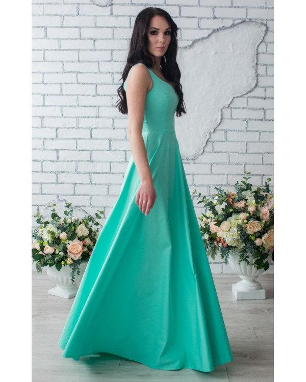 Mariage - MInt Bridesmaid Dress Long Bridesmaid Dress V-Neck Party Dress, Mint Long Prom Dress