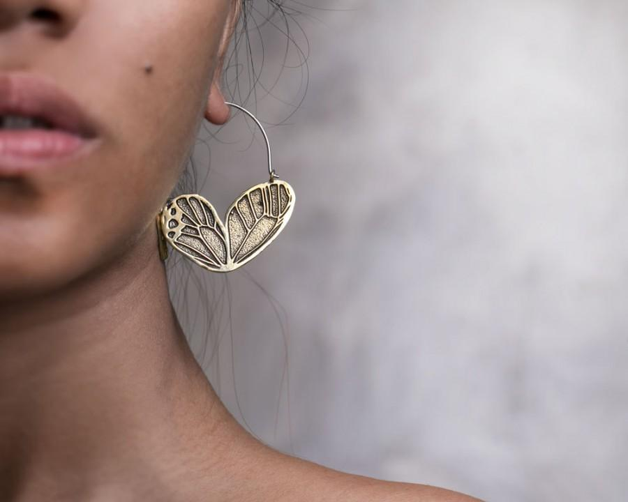 Erfly Wing Earrings Hoop Boho