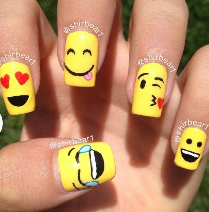 Emoji Nail Art - Nail - Emoji Nail Art #2550760 - Weddbook