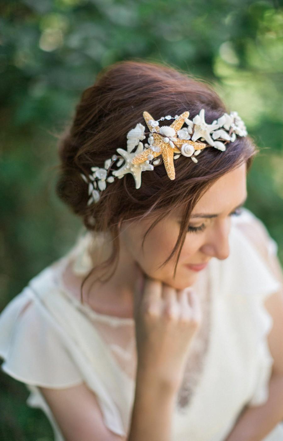 Seashell Headpiece Headband Hair Accessories Starfish Crown Piece Beach Wedding 9