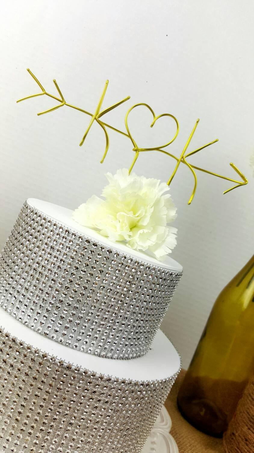 how to make wire cake toppers
