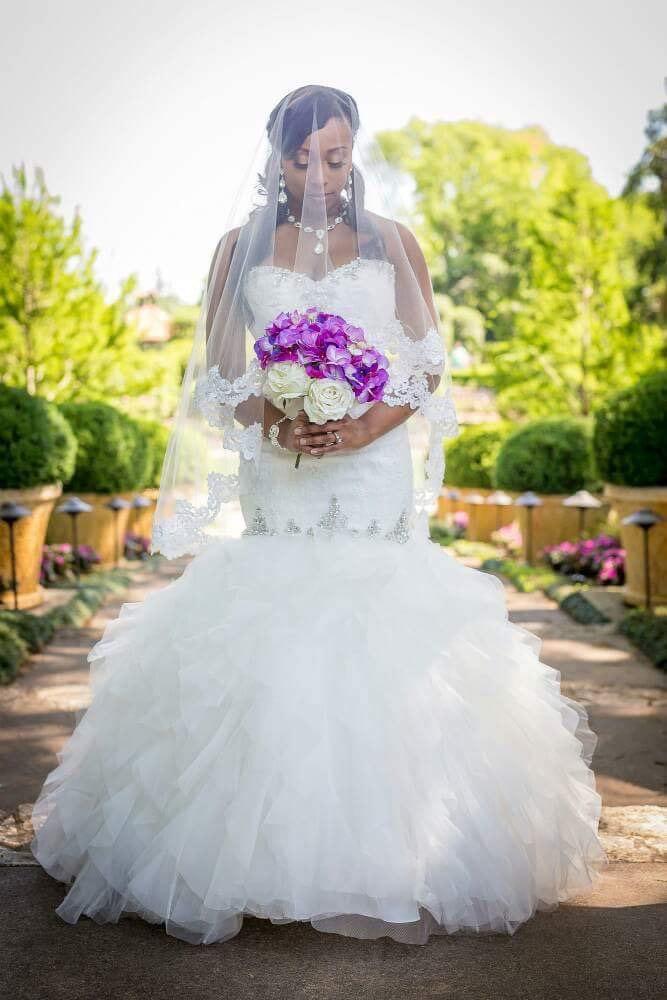 Mariage - Beautiful Lace Drop Veil