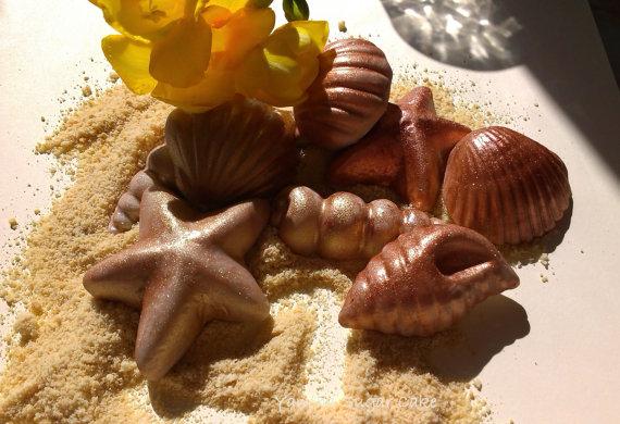 Wedding - Large fondant gumpaste edible seashells Wedding decorations Summer cake topper Mermaid Nemo Under the sea Bridal shower Birthday party