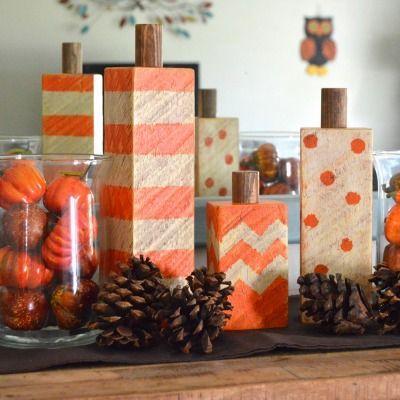 Свадьба - Craft A Rustic Pumpkin With Scrap Wood