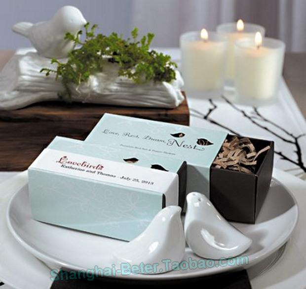 Mariage - Beter Gifts® Love Birds Salt and Pepper Shakers in Gift Package