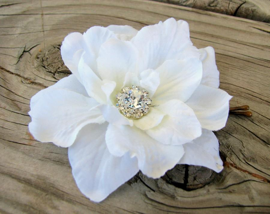 Small soft white flower hair pin bridal flower clip wedding small soft white flower hair pin bridal flower clip wedding fascinator hair accessories floral head piece rhinestone crystal white comb mightylinksfo