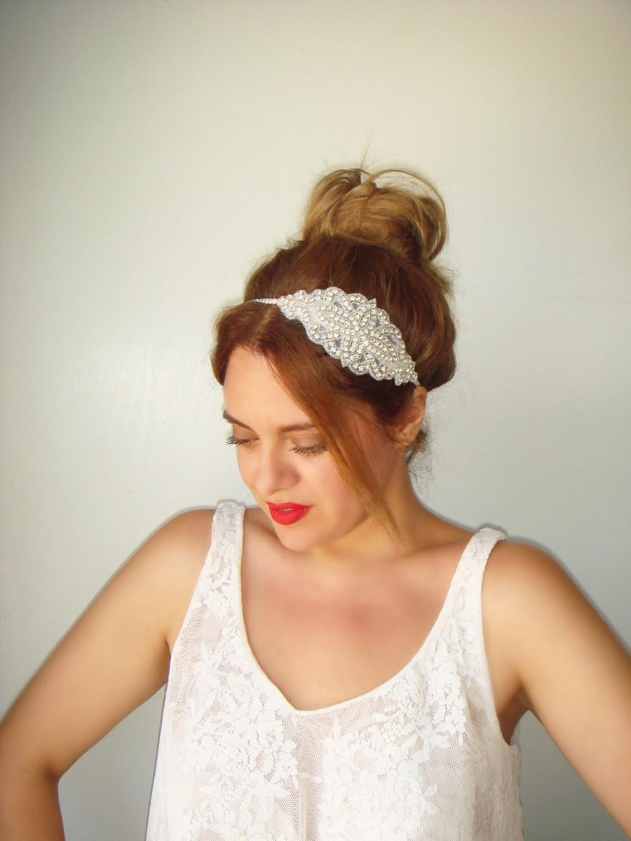 Wedding - Weddings, Wedding headband, Rhinestone headband, headband, Bridal headpiece, Hair, Diamond, Accessories, Bridesmaid, Rhinestone band, VENICE