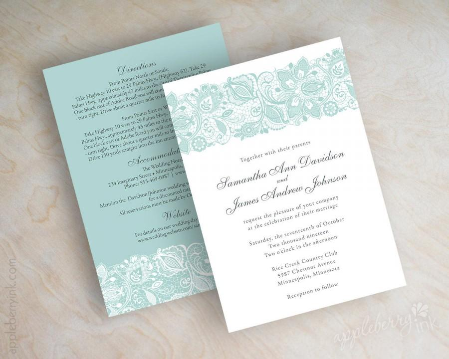 Lace Wedding Invitation Lace Wedding Invitations Lace Wedding
