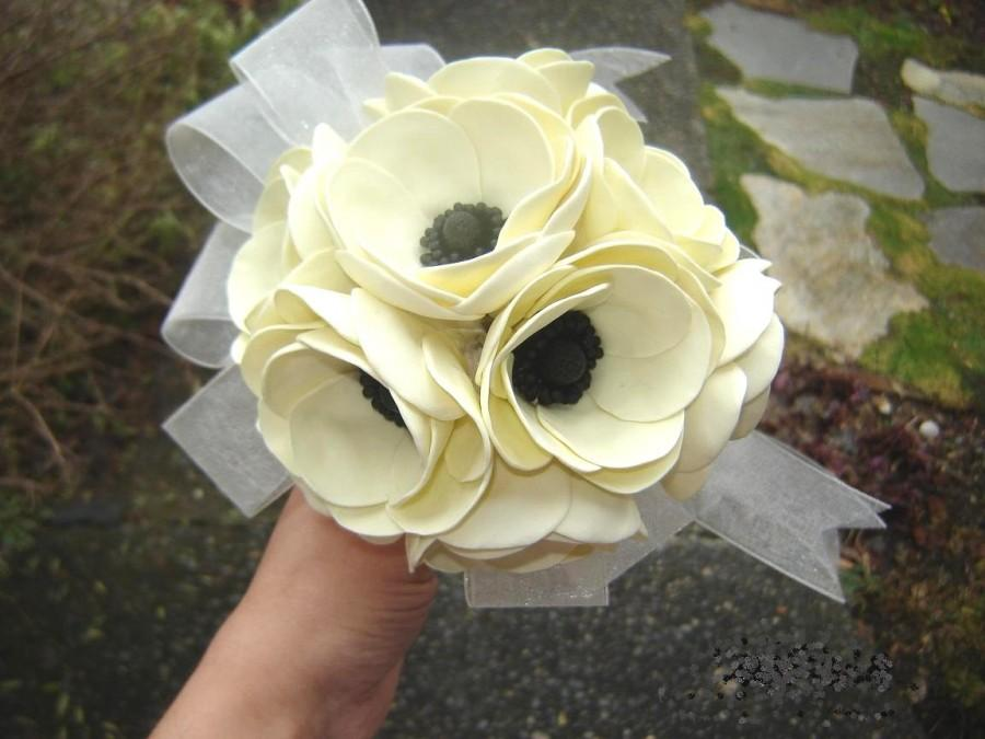 Свадьба - Poppies Wedding Bouquet Bridal Bridesmaid Bouquet Wedding Flowers Made to Order