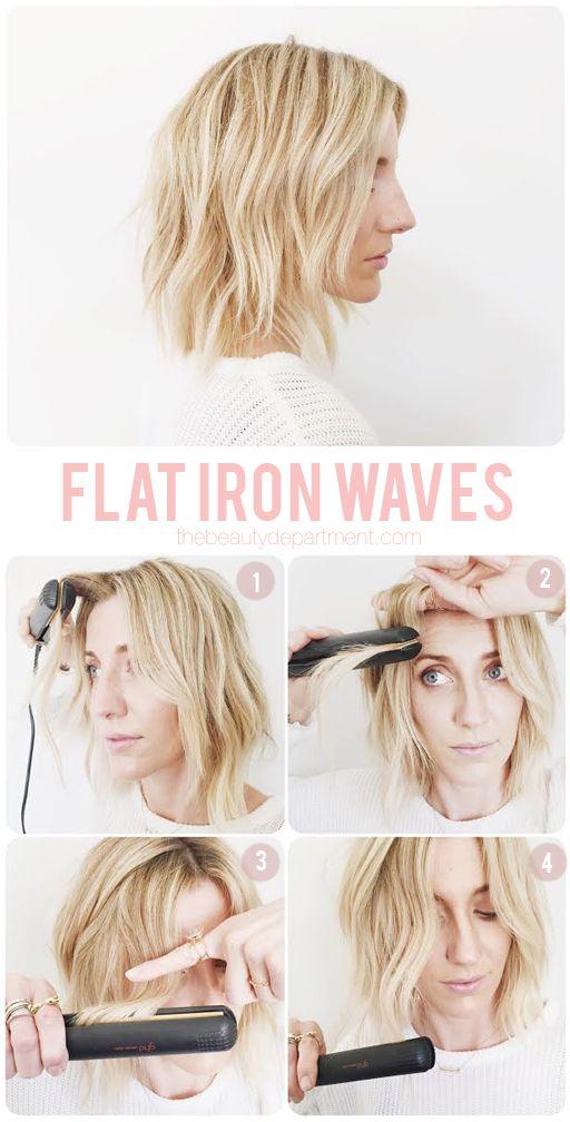زفاف - MAPPING OUT FLAT IRON WAVES