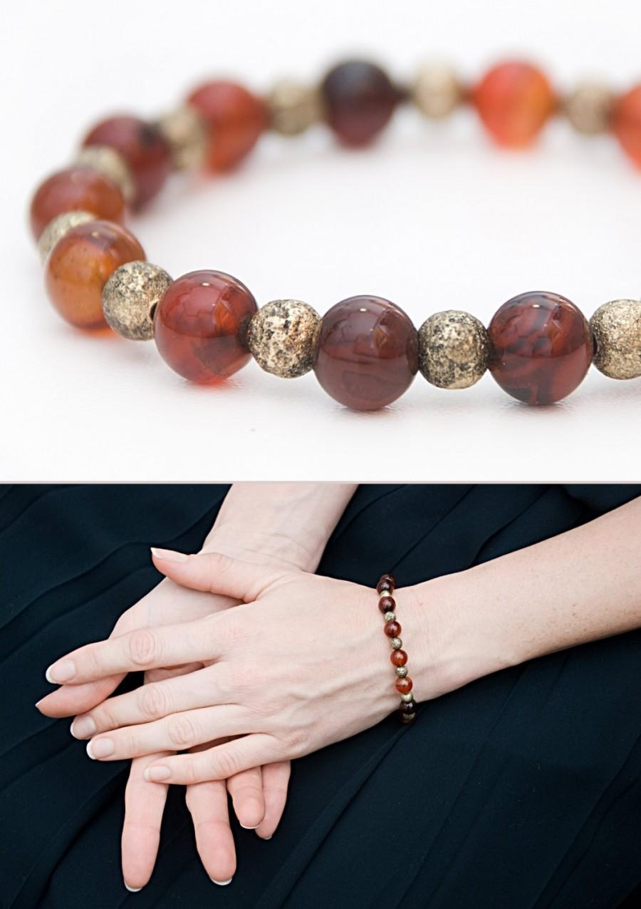 fa5ca8f46f996 Talisman Of Luck Carnelian Bracelet Brown Feminine Bracelet With ...