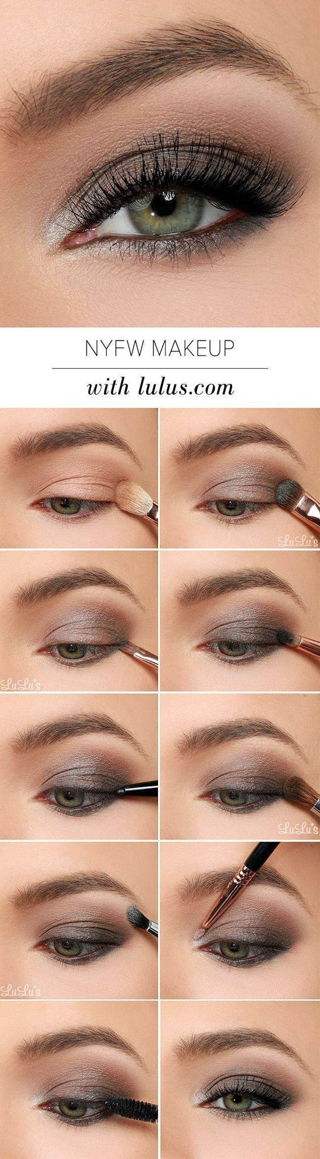 This Nyfw Inspired Eye Makeup Tutorial Uses Gray Black And