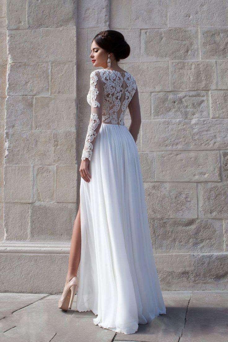 زفاف - Chiffon Split Side Wedding Dress