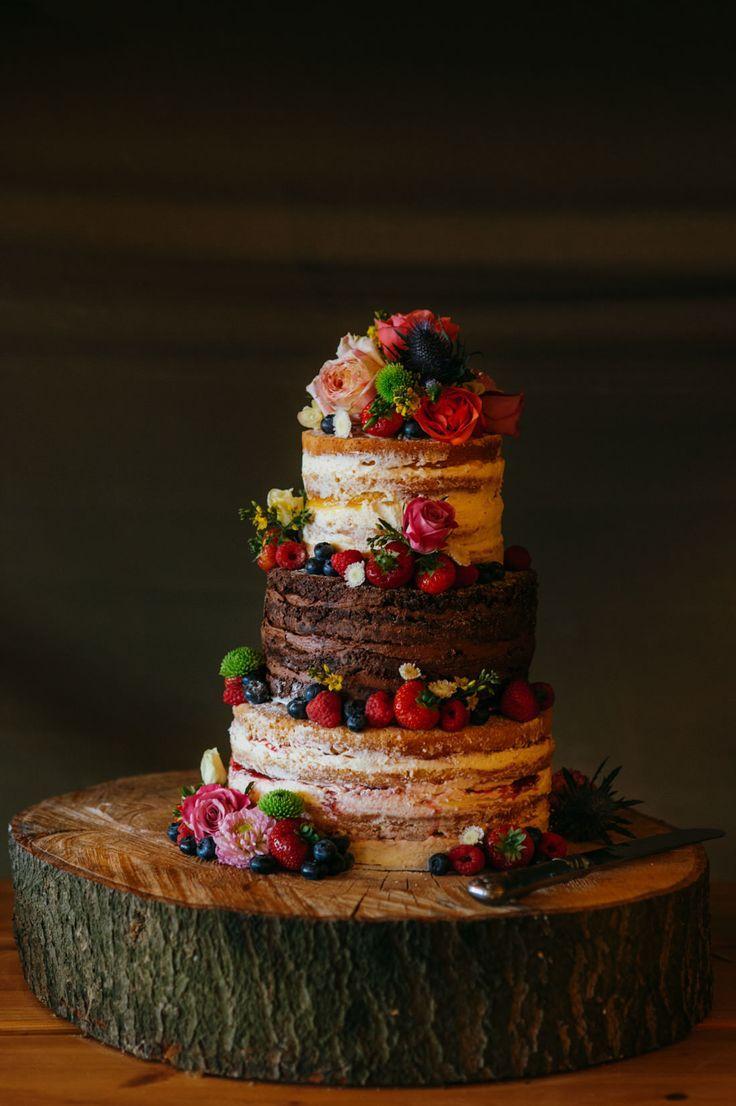 زفاف - Rustic Chocolate Wedding Cakes