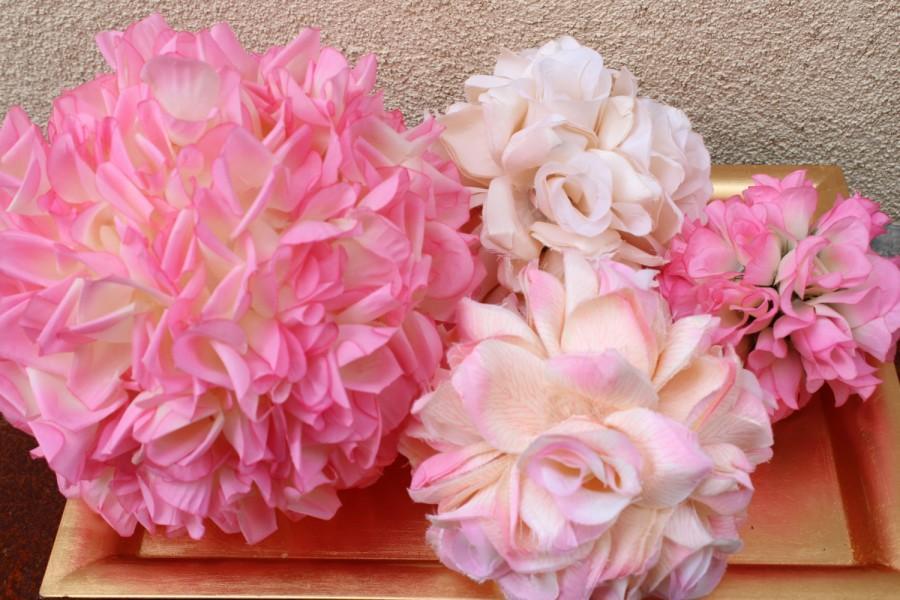 Pomanders Flower Balls Pink Rose Balls Pomanders Roses Wedding