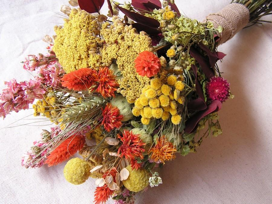 dried flowers country wedding flowers table arrangement dried floral