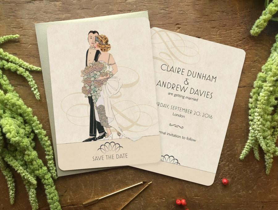 Vintage Style Save The Date Save The Date Postcard Save The Dates
