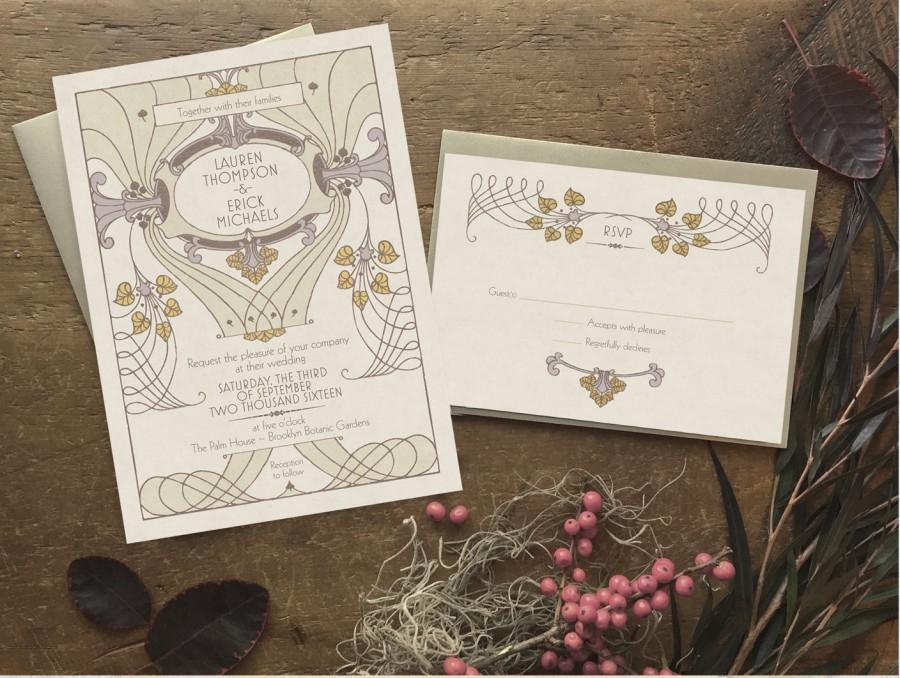 Wedding - Lavender Wedding, Wedding Invitation, Spring Wedding, Wedding Invitation Set, Boho Wedding Invitation, Spring Wedding - Littleton