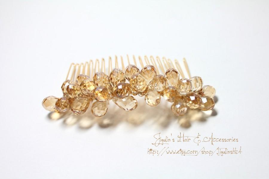 Свадьба - Bridal hair comb, wedding hair accessories - Honey