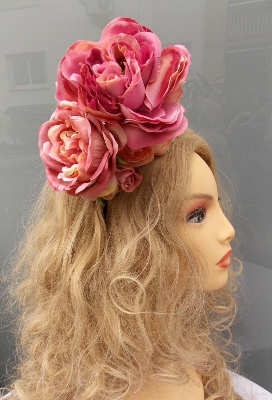 Flowers Diadem, Flowers Headpiece, Flowers