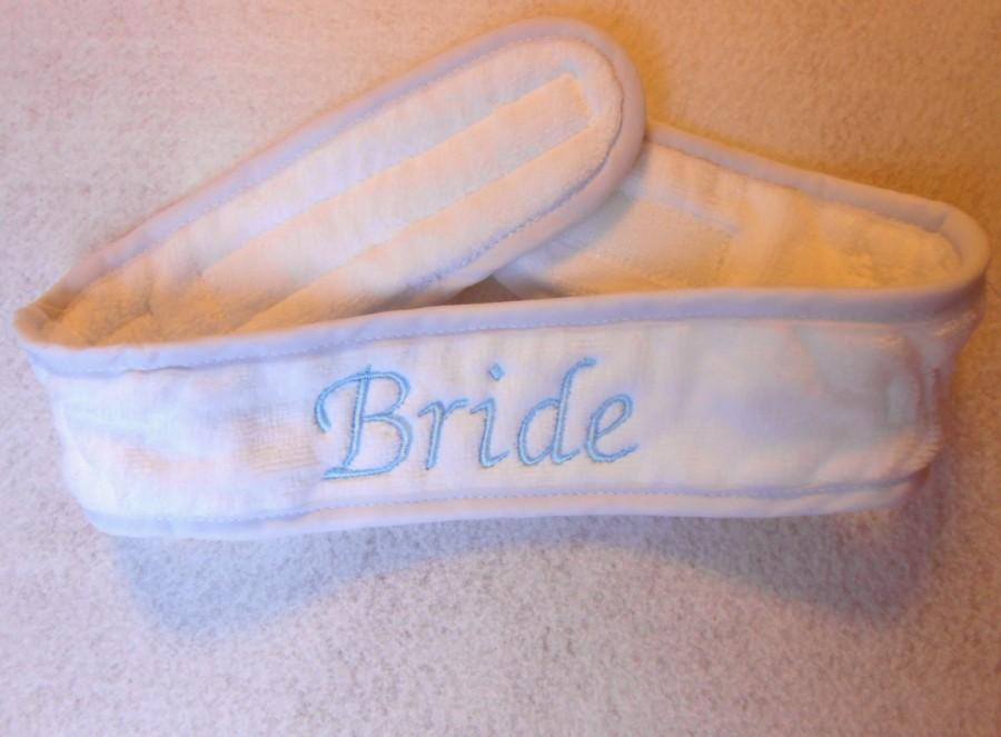 Mariage - Spa Headband Wrap, Custom Monogram For A Bride