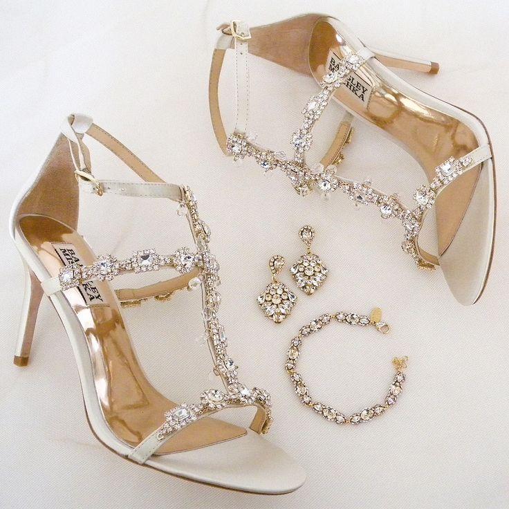 Badgley Mischka Cascade, Ivory Wedding Shoes